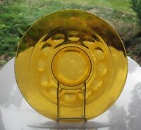 "Indiana Colony Glass Amber Kings Crown 13"" Platter Tray Plate"
