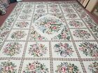 10' X 14' Hand Made French Aubusson Savonnerie Design Needlepoint Rug Nice