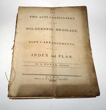 Two Acts of Parliament for the Holderness Drainage with an Index and Plan. 1781