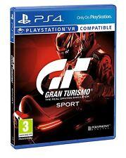 GIOCO PS4 GT GRAN TURISMO SPORT VR PLAYSTATION 4 NUOVO UFFICIALE ITALIA SIGILLAT