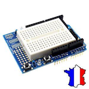Carte de prototypage Arduino UNO + Breadboard, Prototype Shield, Protoshield