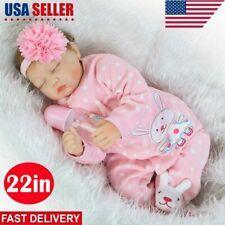 "22"" Reborn Baby Boy Doll Realistic Handmade Vinyl Silicone Lifelike Toy Girl New"