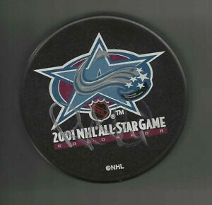 Rob Blake Signed Colorado Avalanche 2001 All Star Game Puck