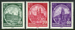 Germany DDR/GDR 291-293,MLH.Dresden.City Hall,Market;Elbe Bridge,College,1956