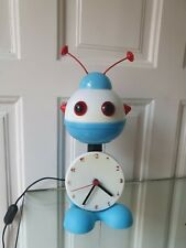 Vintage light space age ufo Robot lamp clock Stilfer Milano