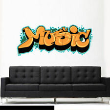 Full Color Wall Decal Sticker Kids Graffiti Words Quote Sign Music (Col702)