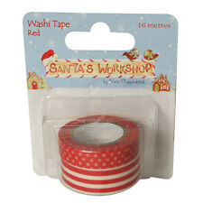 Helz Cuppleditch Santa's Workshop Washi Tape - Reds
