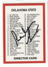 REUBEN GANT OKLAHOMA UNIVERSITY AUTOGRAPHED FOOTBALL CARD