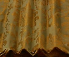"Camel/Bronze Damask Jacquard 100% Silk Fabric 54"" Wide, By The Yard (JD-44105)"