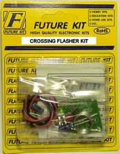 N SCALE MODEL TRAIN RAILROAD CROSSING FLASHER CIRCUIT  KIT WITH 4 RED 3MM LEDS