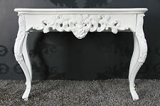 Console Blanc Finition Antique luxuriös palatial BUFFET DE STYLE BAROQUE/ROCOCO