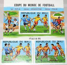 MALI 1990 1133-34 Block 29 C555-57 Final Games Soccer World Cup Italy ovp ÜD MNH