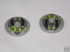 Lego 2 x Radar Schüssel 4x4 bedruckt althellgrau 3960px3 aus 7317 7300 7314 # 11