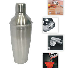 750 ml Stainless Steel Cocktail Shakers Mixer Drink With Built in Strainer Matt