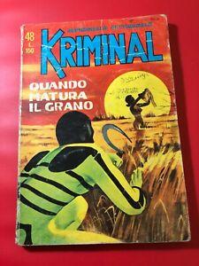 KRIMINAL N° 48  LIRE 150 QUANDO MATURA IL GRANO   1965