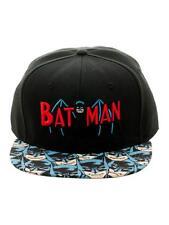Official DC Comics Batman Retro Symbol Snapback Cap With Printed Visor (new)