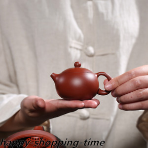 full handmade xishi pot marked real yixing zisha dahongpao clay tea pot 100cc