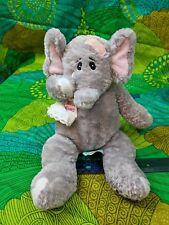 "First & Main Ellie Elephant Baby w/ Bandage & Handkerchief 12"" Long Plush"
