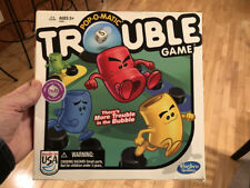 """2013 Pop-o-Matic """"TROUBLE"""" Family Chase / Race & Capture Game, *HASBRO*"""