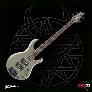 BC Rich JMS4GM John Moyer Signature 4 String Bass Guitar Gun Metal LAST ONE EVER