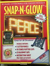 SNAP-N-GLOW RE-USABLE LETTER PANELS FOR CUSTOM MESSAGES WRITE YOUR OWN MESSAGE