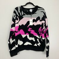 John & Jenn Abstract Crew Neck Pullover Sweater, NWT, Sz M