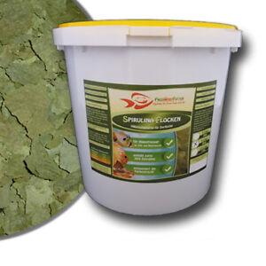 Spirulina 30% Flocken 5 Liter Eimer 800g Algenfutter Futter Fischfutter Algen
