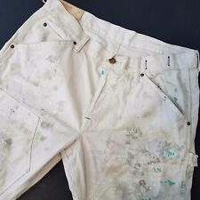 RL Denim Supply Mens Jeans Denim Distressed Paint Designer Straight Sz 33x32  C1