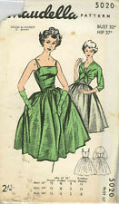 """Vintage Evening Gown Sewing Pattern 5020 Bust 32"""""""