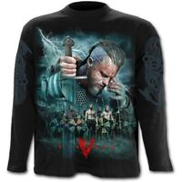 VIKINGS Long Sleeve T-Shirt//Top KEEP CALM OFFICIAL LICENSED SPIRAL ROLLO AXE