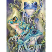 Frog 5D DIY Full Drill Diamond Painting Animal Cross Stitch Kit Decor Embroidery
