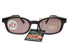 KD's Sunglasses Original Biker Shades Motorcycle Black Rose Lens 20120