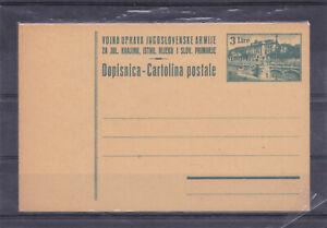 Italy Yugoslavia Istria Trieste Slovenia Zona B postal card VUJA MNH
