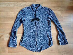 HUGO BOSS slim fit JERSEY SHIRT long sleeve knit shirt
