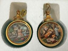 Bradford Exchange Kitten Expeditions First Second Issue Set Of 2 Cat Ornaments