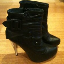 WITTNER BLACK LEATHER ANKLE BOOTS SZ. 6