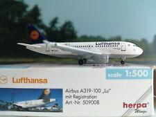"""Herpa Wings 1:500  Lufthansa Airbus A319 D-AILU """"verden"""" **SELTEN**"""