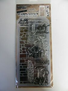 *NEW* TIM HOLTZ (Stampers Anonymous) STAMPS & STENCIL 'Toadstools & Mushrooms'