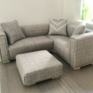 1:12 scale Corner Sofa and Footstool for dolls house