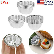 US 5x Aluminum Alloy Egg Tart Moulds Candy Cake Muffin Baking Cup Tartlets Pans