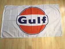 Gulf Racing Gasoline Flag Oil Orange Banner 3 x 5 Wall Deco Garage Free Shipping