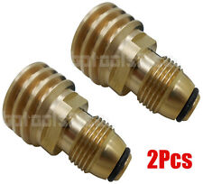 Lot of 2 Converts Propane LP TANK POL Service Valve to QCC Outlet Brass Adapter