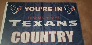 Houston Texans 3x5 In Country Flag Indoor Outdoor Deluxe NFL Banner - CLOSEOUT