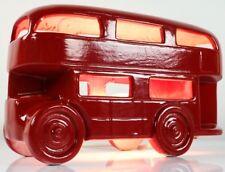 Londres Bus table lampe éclairage biplan céramique rouge desk lamp Route Master