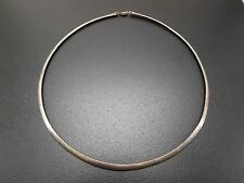 Vintage Sterling Silver Beautiful Omega Necklace Solid 925 21.1 Grams