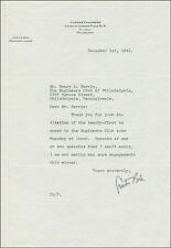 CURTIS BOK - TYPED LETTER SIGNED 12/01/1941