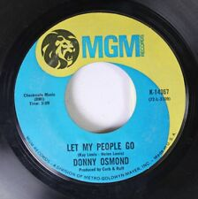 Rock 45 Donny Osmond - Let My People Go / Puppy Love On Mgm Records