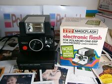 Polaroid LAND CAMERA 1000S  WITH A RARE NEW FLASH UNIT *