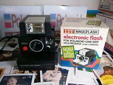 Polaroid LAND CAMERA 1000S  WITH A RARE NEW FLASH UNIT *
