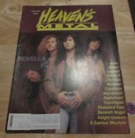 HEAVEN'S METAL #35 - CHRISTIAN METAL - 1992 NOVELLA KING'S X BELIEVER TOURNIQUET